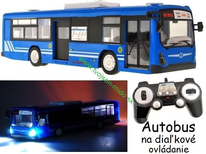 4158043bf JOKO Autobus na diaľkové ovládanie s otváracími dverami, Led Svetlo, modrý