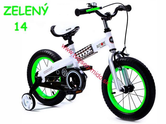 06d61a685560a BUTTONS Detský bicykel 14 zelený | Tvojsen-mido.sk | Hračky ...