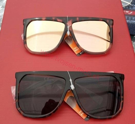 5cdfe3f8e Dámske slnečné okuliare, hranaté, zrkadlovky, tmavé   Tvojsen-mido ...
