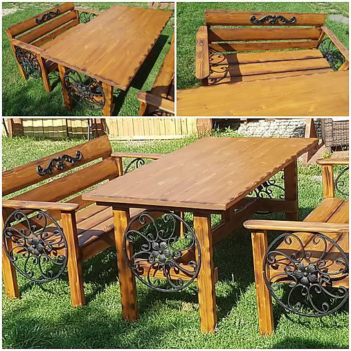 c689b0562812 RETRO Záhradný drevený set rustikálny