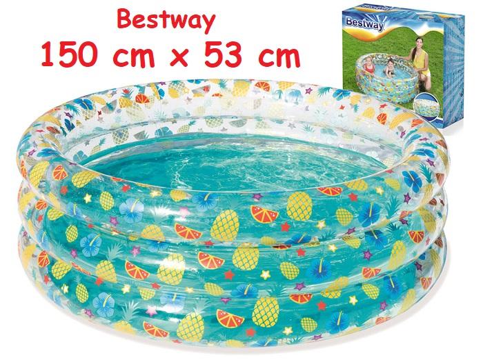 Bestway 51045 Nafukovací Okrúhly Bazén Pre Deti Ovocie 150 Cm X 53 Cm