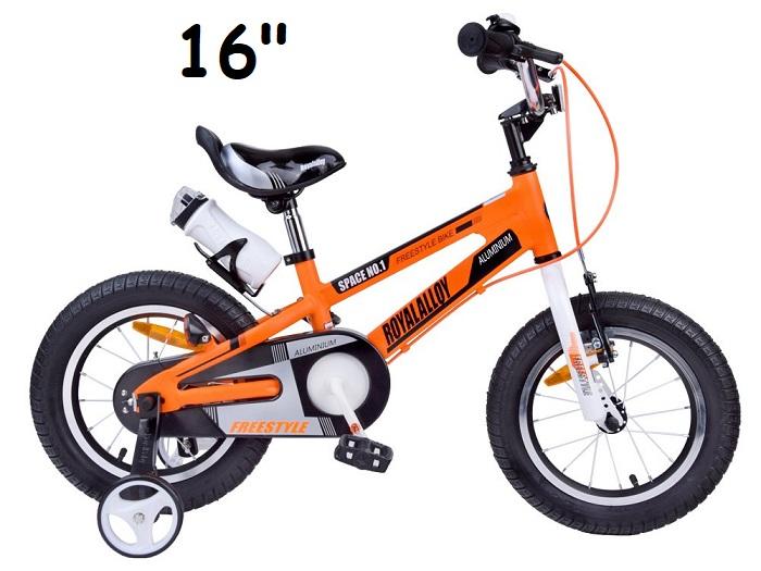 7d9aaf7ef475 Royal Baby Detský bicykel 16 Space oranžový