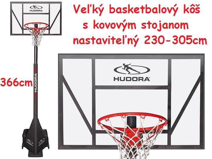799c3b2de Hudora Veľký basketbalový kôš Competition Pro305 366cm, nastaviteľný kovový  stojan