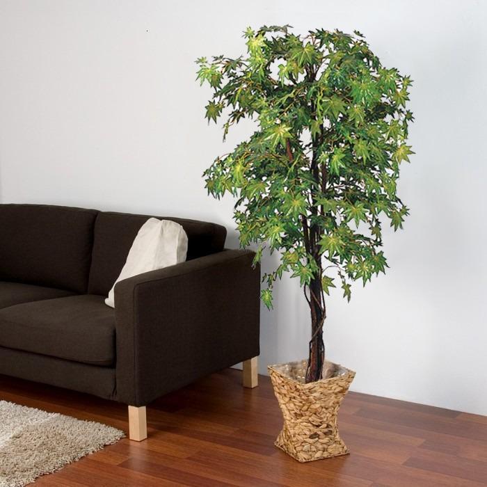 Искусственные деревья в интерьере квартиры фото
