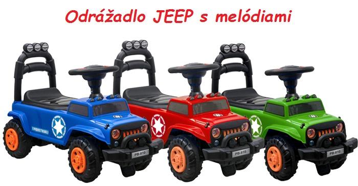 d52b58f43 JOKO Odrážadlo Jeep s melódiami pre deti