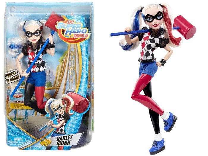 Mattel Super Hero Girls Bábika Harley Quinn
