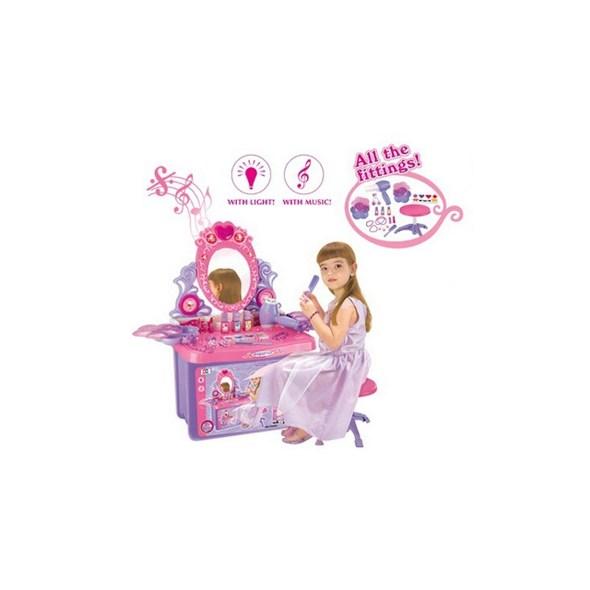 JOKO Detský Toaletný Stolík kozmetický so zrkadlom + zvuky 13a5d2c556f