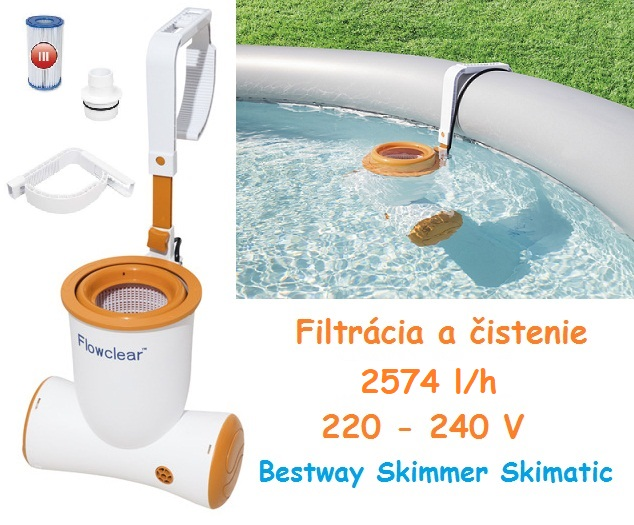 Bestway Filtračná Pumpa SKIMATIC™ So Skimmerom 2574 L/H 58462