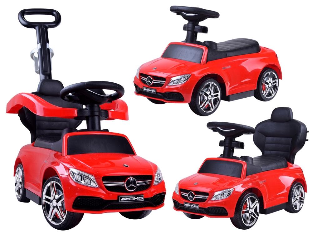 6ca21bf87 JOKO Odrážadlo Mercedes AMGs Vodiacou tyčou 3v1, červené