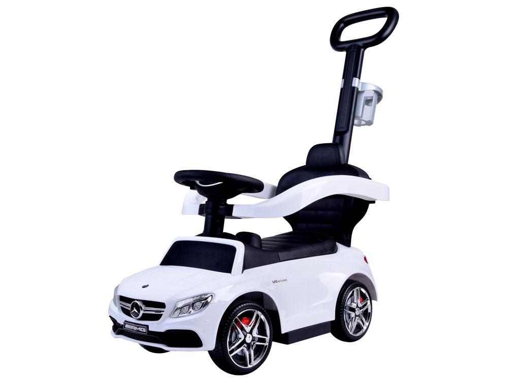 2a1416026 JOKO Odrážadlo Mercedes AMG s Vodiacou tyčou 3v1, biele
