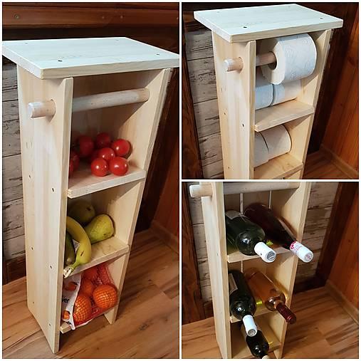 1011b054d RETRO Univerzálny stojan na toaletný papier, polica ovocie , stojan na  víno, príručný stolík