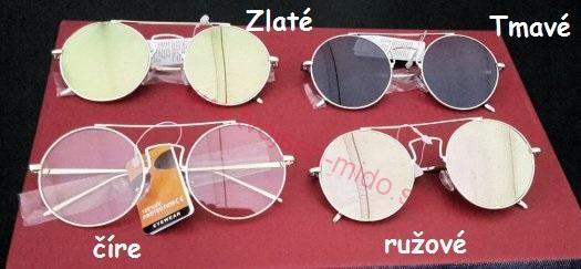 41ed8b52e Dámske Slnečné okuliare lennonky zrkadlovky s UV400, ružové ...