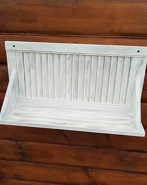 3416b9077 RETRO Drevená polica z okenice vintage štýl, jedna polička, biela ...