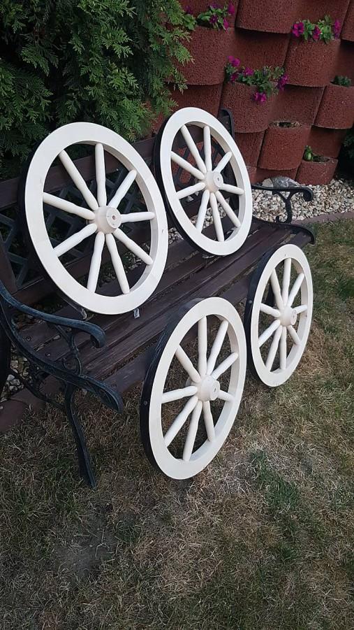 c8fe042e2 RETRO Drevené koleso 50 cm, dekorácia, natural, bez kovovej obruče ...